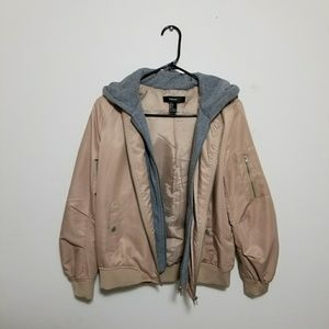 FOREVER 21 Tan Bomber Jacket